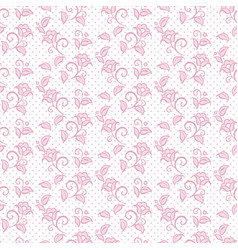 seamless pattern floral ornament background design vector image vector image