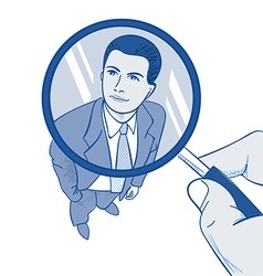 Zoom Magnifying Glass vector image