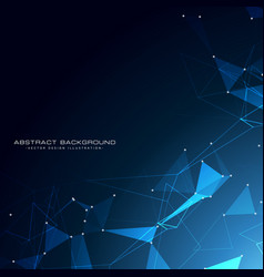 awesome technology particles background design vector image vector image