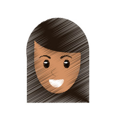 drawing head face female image vector image vector image