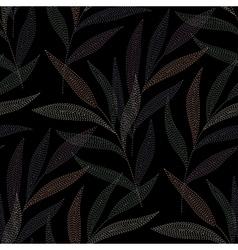 needlework tropic black vector image