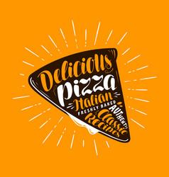 pizza slice element of menu restaurant or vector image vector image