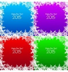 Set of Christmas snowflake backgrounds vector image