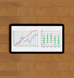 stock market statistics and quotes vector image