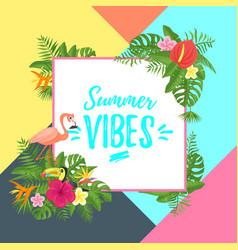 tropic season postcard or poster vector image