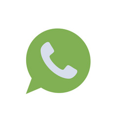 App chat telephone watts app flat color icon icon vector