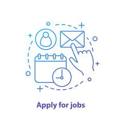 Apply for job concept icon vector