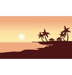 At Sunset in beach scenery vector image