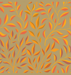 autumn leaves branch seamless pattern fall leaf vector image