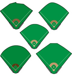 baseball fields vector image