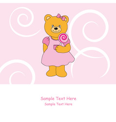 bear lollipop vector image vector image