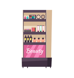beauty stand cosmetics and production icon vector image