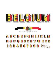 belgium cartoon font belgian national flag colors vector image