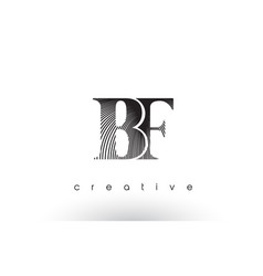 Bf logo design with multiple lines and black and vector