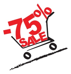 Big sale 75 percentage discount 2 vector