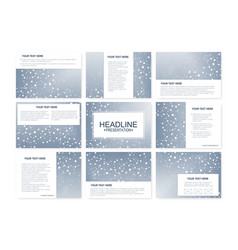 big set of templates for presentation vector image