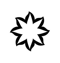 Black thick contour with flower icon vector