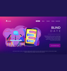 blind date concept landing page vector image