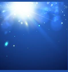 bright sparks blue background vector image