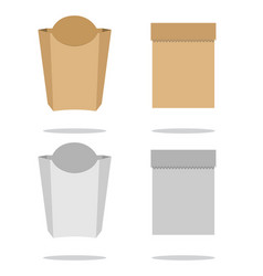brown plastic or paper packaging sachet for tea vector image