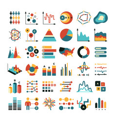 Business data graph and charts marketing vector