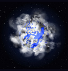 cancer astrology constellation of the zodiac smoke vector image