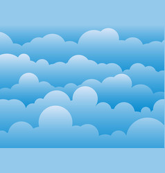 Cartoon cloud and sky abstract background vector