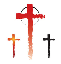 Christianity cross symbols vector