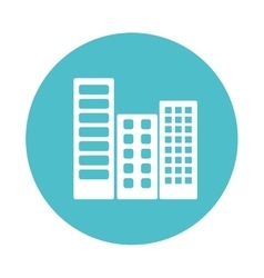 city buildings isolated icon vector image