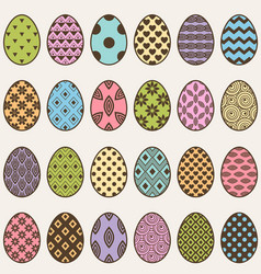 Colorful eggs set for easter vector