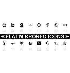 communication - flat icons vector image