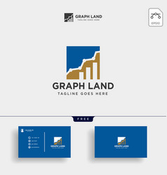 Consulting consult graphic statistic logo template vector