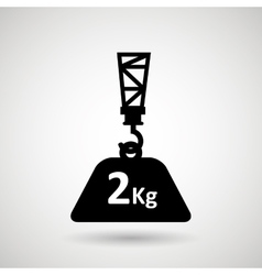 crane lift design vector image