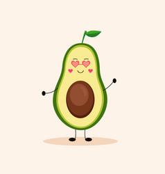 Cute avocado girl vector