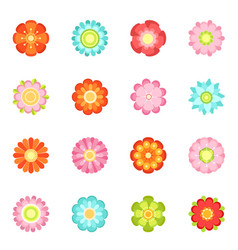 Cute floral in flat style vector