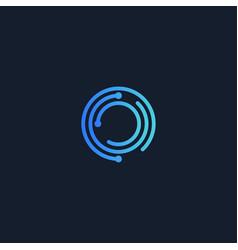 digital lock round logo encryption vector image