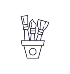 drawing set line icon concept drawing set vector image