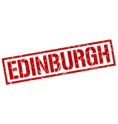 Edinburgh red square stamp vector