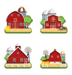 Farm Flat Isolated Decorative Icons vector