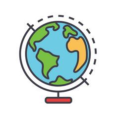 Globus concept line icon editable stroke vector