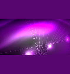 Glossy shiny glowing neon waves vector