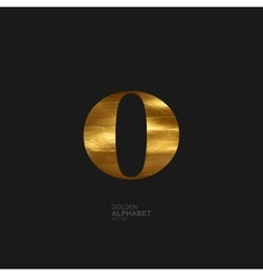 Golden letter O vector image