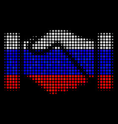 Halftone russian acquisition handshake icon vector