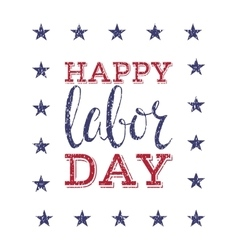 Happy labor day poster vector