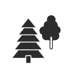 icon forest vector image
