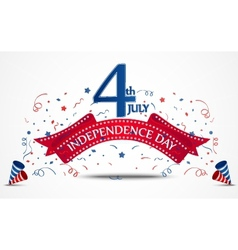Independence day celebration with confetti vector image