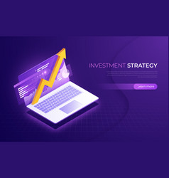 investment strategy business analytics financial vector image
