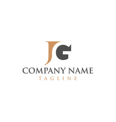 jg logo for law firms and education vector image