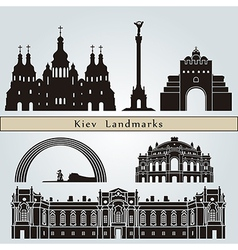Kiev landmarks and monuments vector image