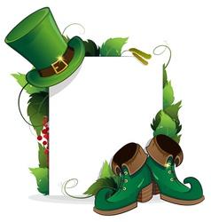 Leprechaun shoe and hat vector